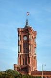 ΒΕΡΟΛΙΝΟ, GERMANY/EUROPE - 15 ΣΕΠΤΕΜΒΡΊΟΥ: Το κόκκινο Δημαρχείο στα τζίτζιφα Στοκ εικόνα με δικαίωμα ελεύθερης χρήσης