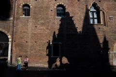 ΒΕΡΟΝΑ, Ιταλία - 4 Απριλίου 2017: Εικονική παράσταση πόλης της Βερόνα, Βένετο Στοκ εικόνες με δικαίωμα ελεύθερης χρήσης