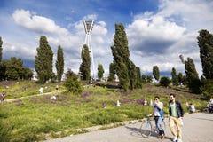 Η Κυριακή ανοίξεων ελεύθερου χρόνου Mauerpark Στοκ Φωτογραφίες