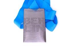 Βερολίνο 2009 μετάλλιο συμμετοχής παγκόσμιων πρωταθλημάτων αθλητισμού Kouvola, Φινλανδία 06 09 2016 στοκ φωτογραφία με δικαίωμα ελεύθερης χρήσης