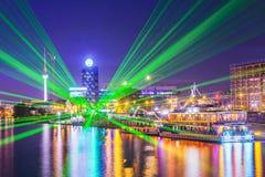 Βερολίνο τη νύχτα Στοκ φωτογραφία με δικαίωμα ελεύθερης χρήσης