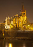 Βερόνα - εκκλησία SAN Fermo Maggiore τη νύχτα Στοκ Φωτογραφία
