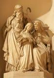 Βερόνα - ιερό οικογενειακό γλυπτό στην εκκλησία του ST Thomas Στοκ φωτογραφίες με δικαίωμα ελεύθερης χρήσης
