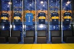 Βεστιάριο νεώτερων της Ατλέτικο Boca λεσχών, στάδιο Λα Bombonera Estadio Alberto Armando Στοκ Φωτογραφία