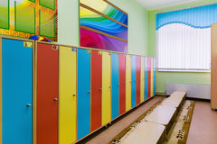 Βεστιάριο στον παιδικό σταθμό Στοκ Εικόνες