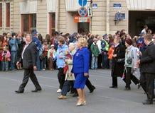 Βετεράνοι πολέμου σε μια στρατιωτική παρέλαση Στοκ εικόνα με δικαίωμα ελεύθερης χρήσης