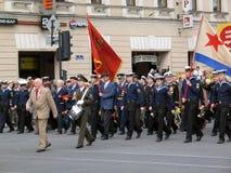 Βετεράνοι πολέμου σε μια στρατιωτική παρέλαση Στοκ Εικόνες