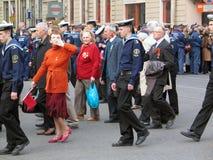 Βετεράνοι πολέμου σε μια στρατιωτική παρέλαση Στοκ Εικόνα