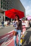 Βελγική διαμαρτυρία ενεργών στελεχών της Gaia στις οδούς των Βρυξελλών Στοκ εικόνες με δικαίωμα ελεύθερης χρήσης