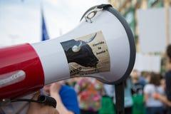 Βελγική διαμαρτυρία ενεργών στελεχών της Gaia στις οδούς των Βρυξελλών Στοκ Φωτογραφίες