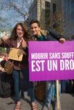 Βελγική διαμαρτυρία ενεργών στελεχών της Gaia στις οδούς των Βρυξελλών Στοκ Εικόνες