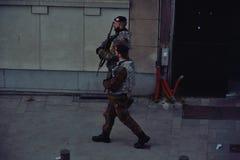 Βελγικοί στρατιώτες που εξασφαλίζουν τις οδούς Στοκ φωτογραφία με δικαίωμα ελεύθερης χρήσης