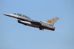 Βελγικό αεριωθούμενο αεροπλάνο πολεμικό αεροσκάφος F-16 Στοκ Φωτογραφίες