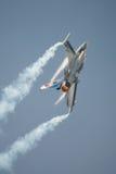 Βελγικό πολεμικό τζετ F-16 επίδειξης Πολεμικής Αεροπορίας Στοκ φωτογραφία με δικαίωμα ελεύθερης χρήσης