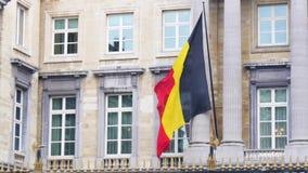 Βελγικό σημαιών στο βελγικό εθνικό συνέδριο απόθεμα βίντεο