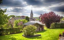 Βελγικό χωριό Στοκ Φωτογραφία