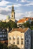 Βελιγράδι κεντρικός - καθεδρικός ναός του ST Michael που αντιμετωπίζεται από Branko Στοκ εικόνες με δικαίωμα ελεύθερης χρήσης
