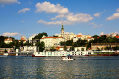 Βελιγράδι Σερβία και ποταμός sava Στοκ Εικόνες