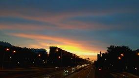 Βελιγράδι τη νύχτα Στοκ Εικόνα