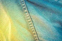 Βελονιά τζιν παντελόνι Στοκ φωτογραφία με δικαίωμα ελεύθερης χρήσης