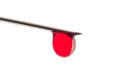 Βελόνα με τη μακροεντολή αίματος Στοκ Εικόνα