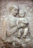Βιέννη - ανάγλυφο της μητέρας της Virgin Mary του Θεού στοκ εικόνα με δικαίωμα ελεύθερης χρήσης