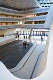 Βιέννη, Αυστρία 2 03 2019 Βιβλιοθήκη του οικονομικού πανεπιστημίου Σύγχρονο κτήριο μέσα στοκ εικόνες