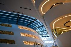Βιέννη, Αυστρία 2 03 2019 Βιβλιοθήκη του οικονομικού πανεπιστημίου Σύγχρονο κτήριο μέσα στοκ φωτογραφία με δικαίωμα ελεύθερης χρήσης