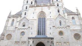 Βιέννη, Αυστρία - 21 Ιανουαρίου 2019: Εξωτερικό του καθεδρικού ναού StStephans στη Βιέννη Stephansdom, Wien απόθεμα βίντεο