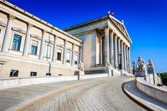 Βιέννη, Αυστρία - το Κοινοβούλιο Στοκ εικόνες με δικαίωμα ελεύθερης χρήσης