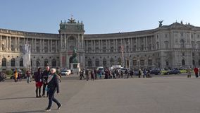 Βιέννη, Αυστρία - το Νοέμβριο του 2017: ιστορικό κέντρο της Βιέννης australites Η Βιέννη Wien είναι η κύρια και μεγαλύτερη πόλη απόθεμα βίντεο