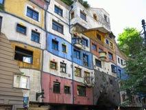 26 05 2018, Βιέννη, Αυστρία: Το σπίτι Hundertwasser είναι ένα από το μ Στοκ Εικόνες