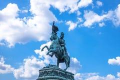 Βιέννη, ιππικό άγαλμα Στοκ εικόνα με δικαίωμα ελεύθερης χρήσης