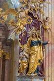 Βιέννη - πολύχρωμο μπαρόκ άγαλμα του ST Ann Στοκ εικόνες με δικαίωμα ελεύθερης χρήσης