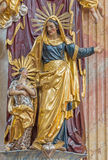 Βιέννη - πολύχρωμο μπαρόκ άγαλμα Στοκ φωτογραφία με δικαίωμα ελεύθερης χρήσης