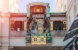 Βιέννη australites Ankeruhr, διάσημο αστρονομικό ρολόι Στοκ Φωτογραφία