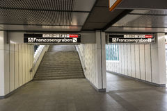 Βιέννη u-Bahn Στοκ Φωτογραφίες