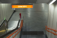 Βιέννη u-Bahn Στοκ φωτογραφία με δικαίωμα ελεύθερης χρήσης