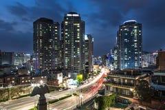 Βιασύνη νύχτας της Σεούλ στοκ εικόνες