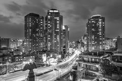 Βιασύνη νύχτας της Σεούλ στοκ φωτογραφίες
