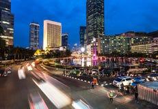 Βιασύνη νύχτας της Τζακάρτα Στοκ Φωτογραφίες