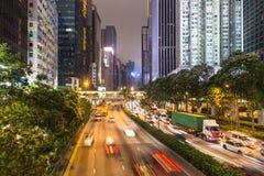 Βιασύνη νύχτας Χονγκ Κονγκ στοκ εικόνα