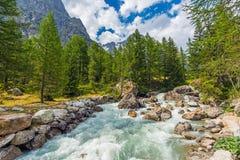 Βιασύνη ποταμών βουνών στοκ εικόνες