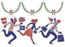 βιασύνη Χριστουγέννων Στοκ Εικόνες