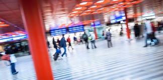 Βιασύνη Trainstation Στοκ Φωτογραφία