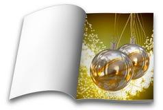 Βιβλία εικόνων σφαιρών Χριστουγέννων Στοκ φωτογραφία με δικαίωμα ελεύθερης χρήσης