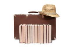 Βιβλία και καπέλο ένα Στοκ Φωτογραφία