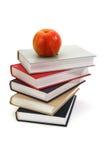 βιβλία μήλων που χρωματίζ&omicro Στοκ φωτογραφία με δικαίωμα ελεύθερης χρήσης