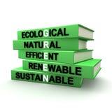 βιβλία περιβαλλοντικά διανυσματική απεικόνιση