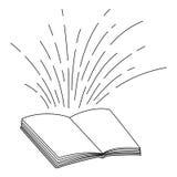 Βιβλίο και σχέδιο γραμμών Στοκ Φωτογραφία